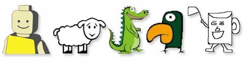 5 mascotes blogosfera id brain