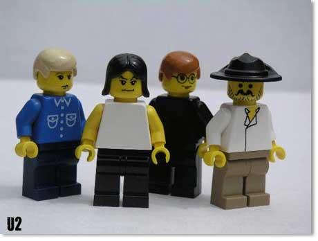 Banda U2 Lego