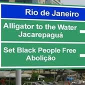 Placas no Rio de Janeiro