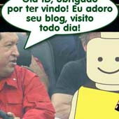 Id Brain visita Hugo Chávez